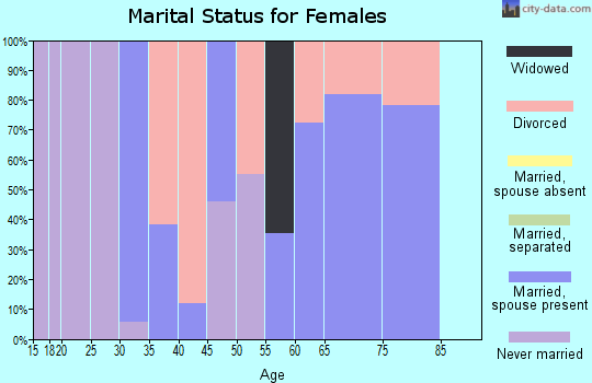 Zip code 85324 marital status for females