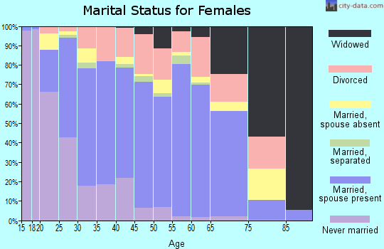Zip code 85326 marital status for females