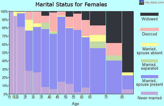 Zip code 85340 marital status for females