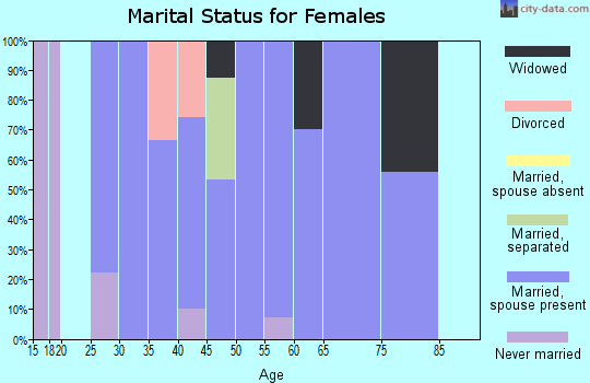 Zip code 85347 marital status for females