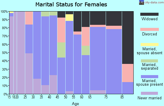 Zip code 85356 marital status for females