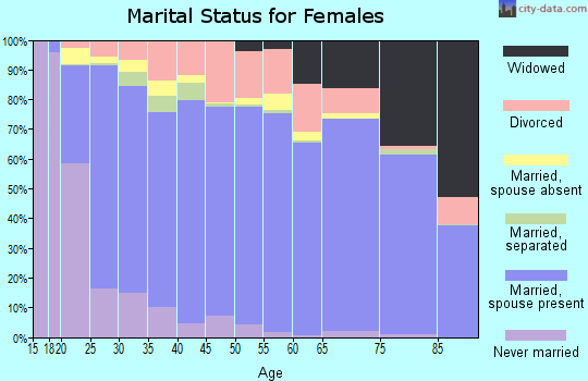 Zip code 85365 marital status for females