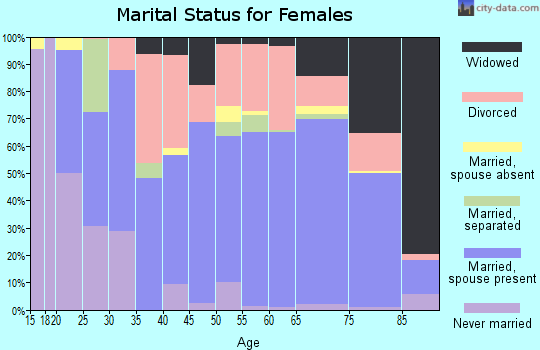 Zip code 85541 marital status for females