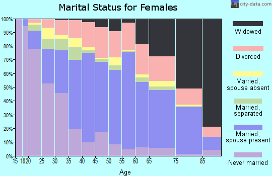 Zip code 85746 marital status for females