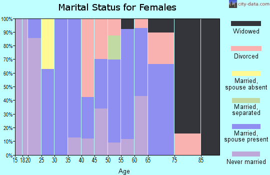 Zip code 85936 marital status for females