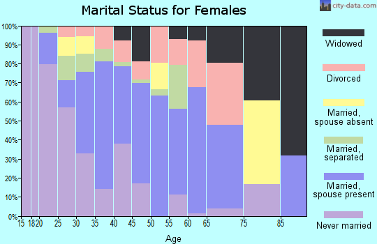 Zip code 86025 marital status for females
