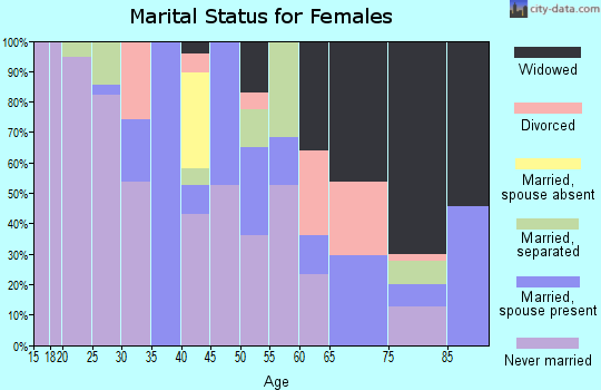 Zip code 86506 marital status for females
