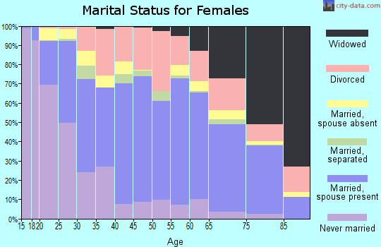Zip code 87401 marital status for females