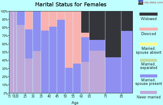 Zip code 87567 marital status for females