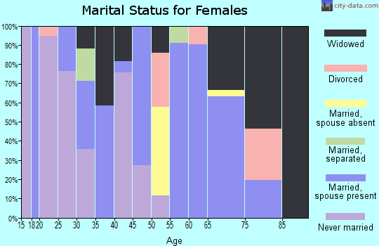 Zip code 88029 marital status for females