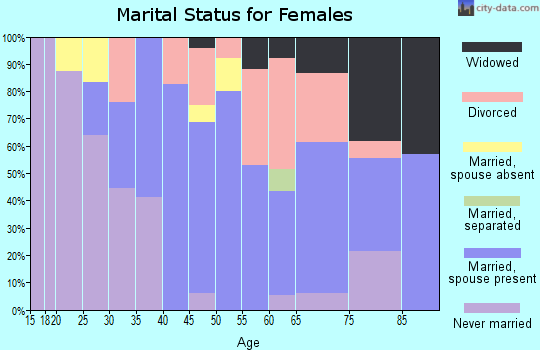 Zip code 88256 marital status for females