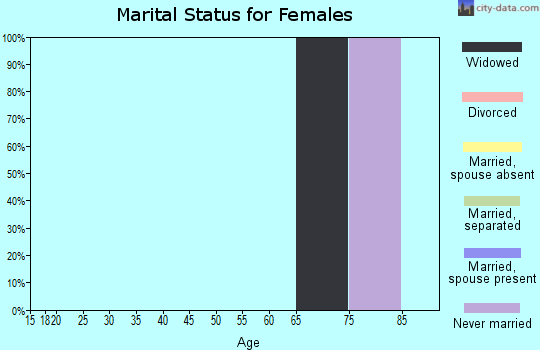 Zip code 88417 marital status for females