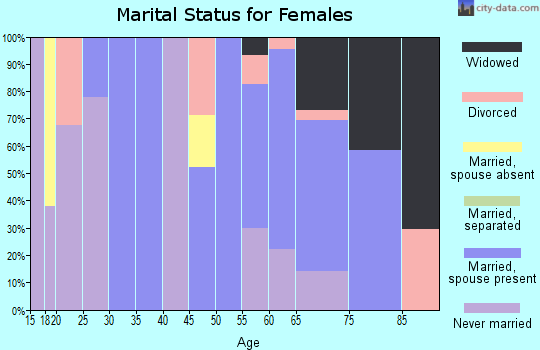 Zip code 88426 marital status for females