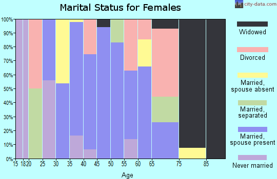 Zip code 89049 marital status for females
