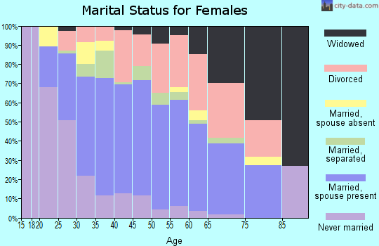 Zip code 89433 marital status for females