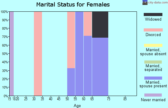 Zip code 89440 marital status for females