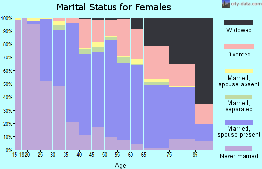 Zip code 90505 marital status for females