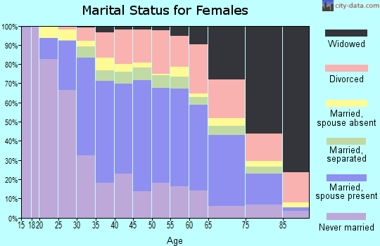 Zip code 90706 marital status for females