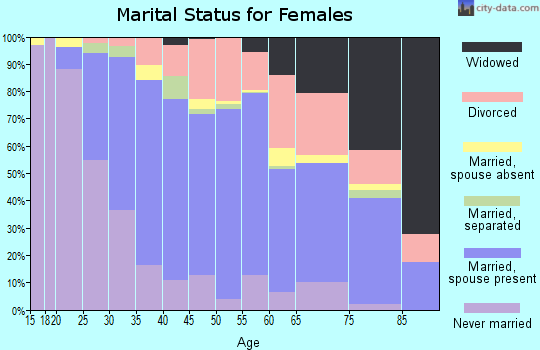 Zip code 91355 marital status for females