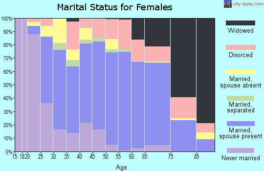 Zip code 92029 marital status for females