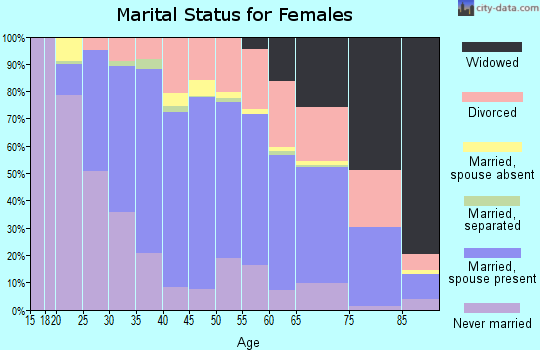 Zip code 92078 marital status for females