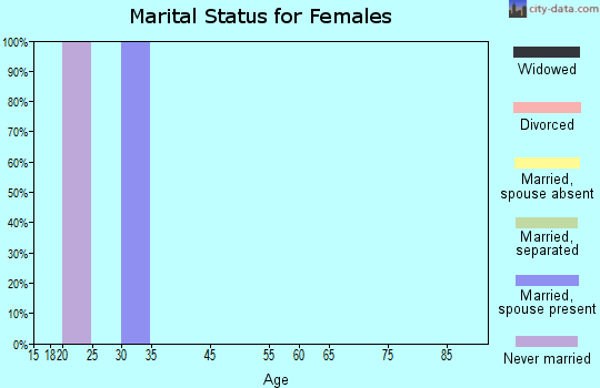 Zip code 92280 marital status for females