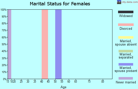 Zip code 92364 marital status for females