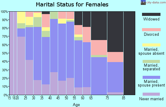 Zip code 92377 marital status for females