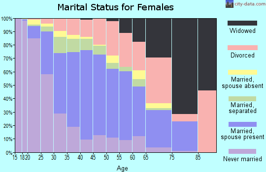 Zip code 92407 marital status for females