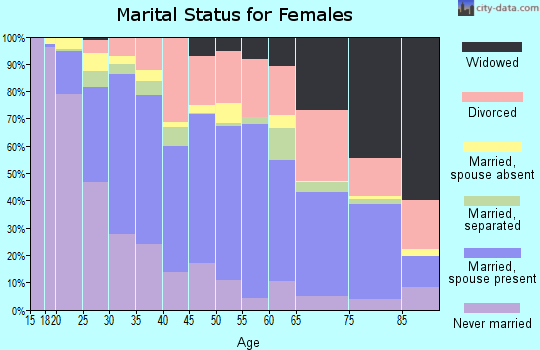 Zip code 92504 marital status for females