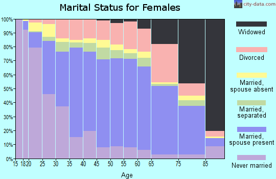 Zip code 92505 marital status for females