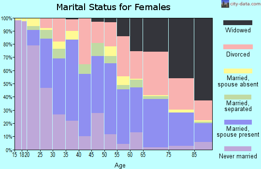 Zip code 92543 marital status for females