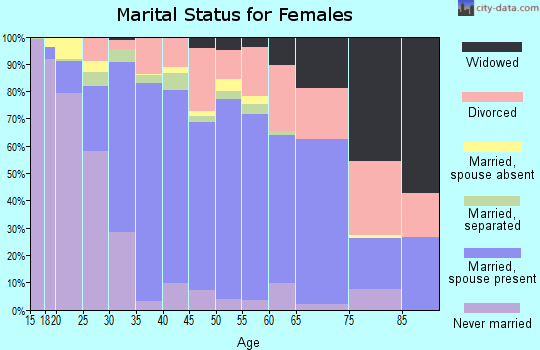 Zip code 92591 marital status for females