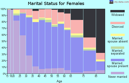 Zip code 93063 marital status for females