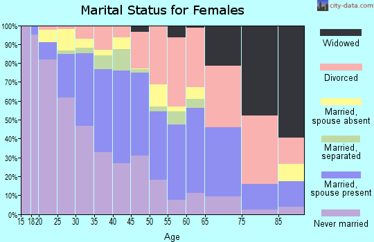 Zip code 93101 marital status for females