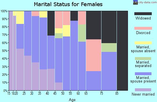 Zip code 93206 marital status for females