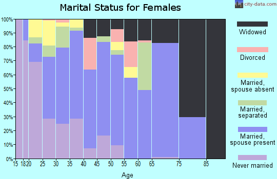 Zip code 93219 marital status for females