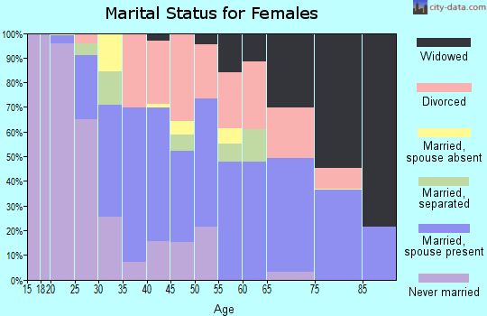 Zip code 93433 marital status for females