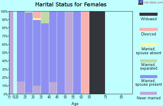 Zip code 93437 marital status for females