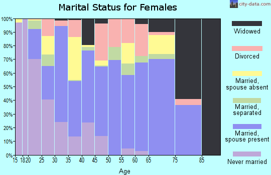 Zip code 93505 marital status for females