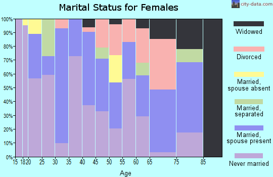 Zip code 93591 marital status for females