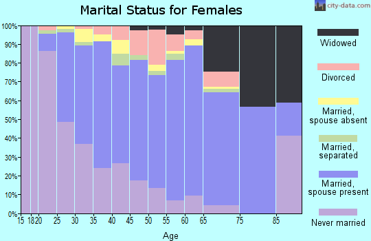 Zip code 93907 marital status for females
