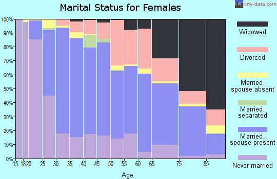Zip code 94040 marital status for females