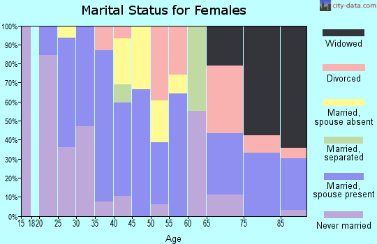 Zip code 94304 marital status for females