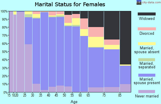 Zip code 94539 marital status for females