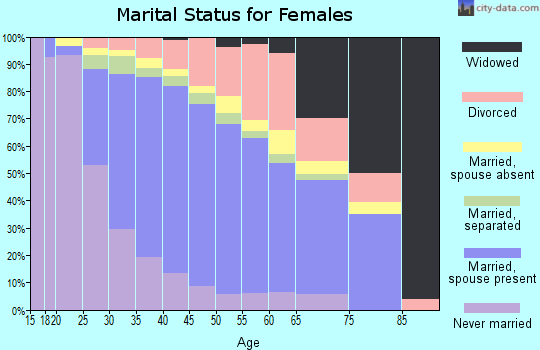 Zip code 94568 marital status for females