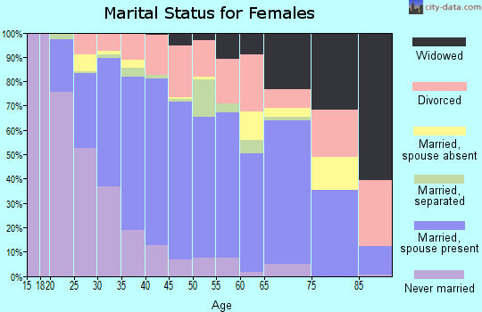 Zip code 94585 marital status for females