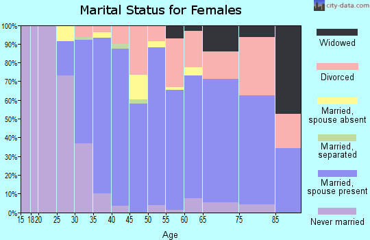 Zip code 95033 marital status for females