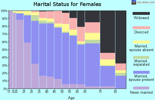 Zip code 95035 marital status for females