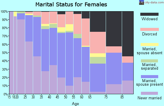 Zip code 95126 marital status for females